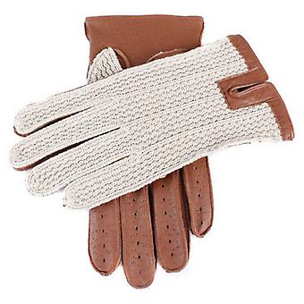 Dents Cotton Haak Terug Driving Gloves - Cognac