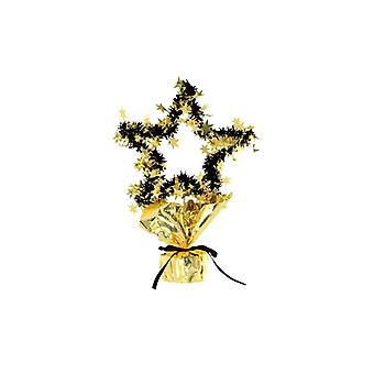 Star Gleam 'N' Shape Centrepiece Gold And Black (Quantity 1)