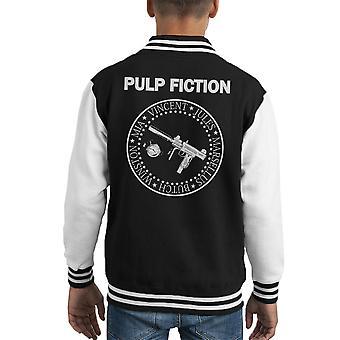 Varsity Jacket el Ramones Pulp Ficción Logo infantil