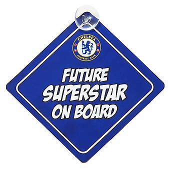 Chelsea FC Official Crest Design Baby On Board Sign