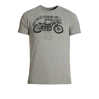 883 POLICE Coyote Graphic Print T-Shirt | Marl Grey