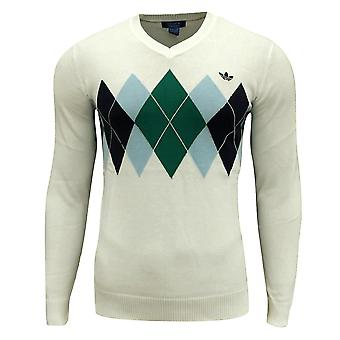adidas Originals män / pojkens Argyle Golf V hals Jumper