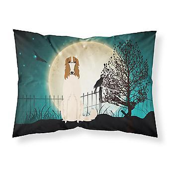 Halloween Scary Borzoi Fabric Standard Pillowcase