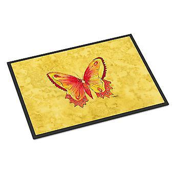 Carolines Treasures  8857JMAT Butterfly on Yellow Indoor or Outdoor Mat 24x36 Do
