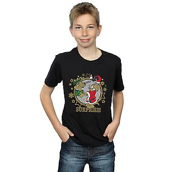 Tom And Jerry Boys Christmas Surprise T-Shirt