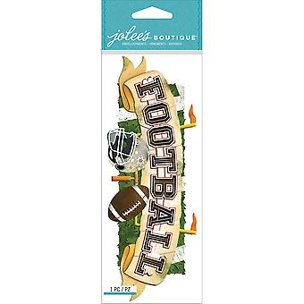 Jolee's Boutique Title Waves Dimensional Stickers-Football E5060400