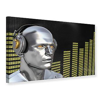 Canvas Print Futuristic DJ