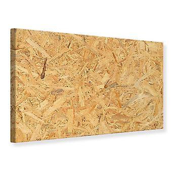 Leinwand drucken gedrückt Holz