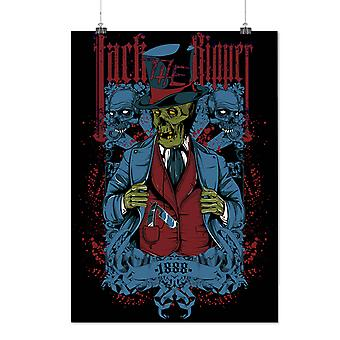 Matte or Glossy Poster with Jack Killer Death Zombie | Wellcoda | *d238