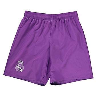 2016-2017 real Madrid Adidas lejos Shorts (púrpura) - niños