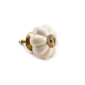 CGB Giftware Large Cream Melon Ceramic Drawer Handle