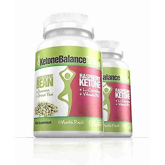 KetoneBalance Duo with Raspberry Ketones and Green Coffee Extract - 2 Month Supply - 2-in-1 Fat Burner - Evolution Slimming
