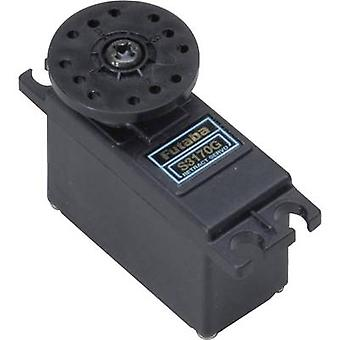 Futaba Mini servo S 3170 G Analogue servo Gear box material: Plastic Connector system: Futaba