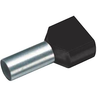 Twin ferrule 2 x 1.50 mm² x 8 mm Partially insulated Black Cimco