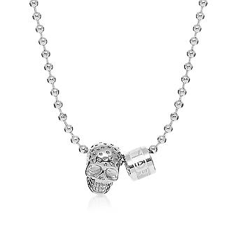 North skull men's 5582166 silver other materials Hall chain