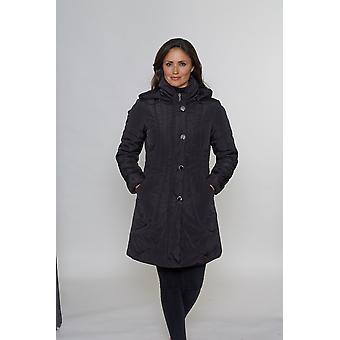 Ladies style DB1263 Padded coat with ruched collar