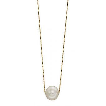 Elements Gold Large Freshwater Pearl Necklace - Gold/White
