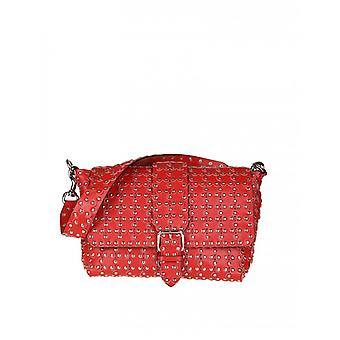 Red Valentino women's PQ2B0A23F58XIQ red leather shoulder bag