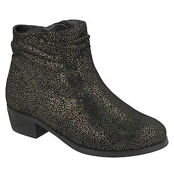 Spot On Girls Mid Heel Rouched Ankle Boots