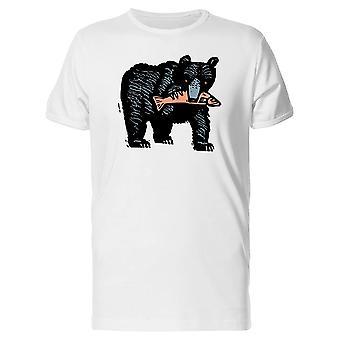 Black Bear Eatin Salmon Tee Men's -Image by Shutterstock