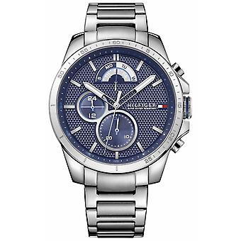 Tommy Hilfiger Mens Stainless Steel Blue Chrono 1791348 Watch