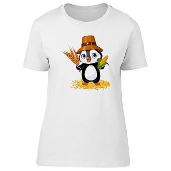 Penguin With Corn And Wheat Tee Women's -Image by Shutterstock