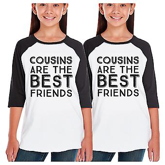 Cousins Best Friends Funny Family Matching Baseball Tees Cute Gifts