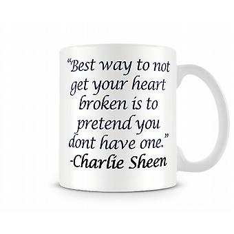 Charlie Sheen Printed Mug