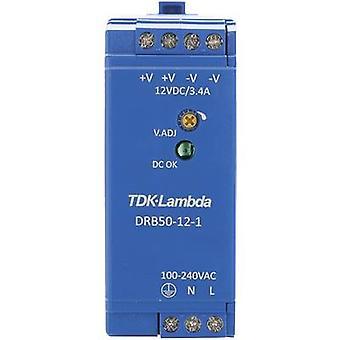 Rail mounted PSU (DIN) TDK-Lambda DRB-50-12-1 12 Vdc 4.2 A 50.4 W 1 x