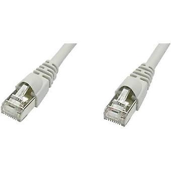 Telegärtner RJ45 redes Cable CAT 5e F/UTP 20 m gris ignífugo, retén incl.