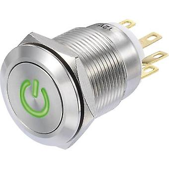 TRU componenti LAS1-GQF-11/G/12V Pushbutton 250 V AC 3 1 x On/(On) IP65 momentaneo 1/PC