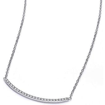 Cavendish French Smile Cubic Zirconia Necklace - Silver