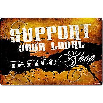 Apoio sua tatuagem Local loja aço assinar 450 X 300 Mm 460 Mm X 300 Mm