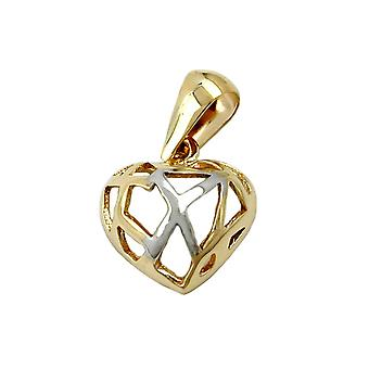 Mini heart pendants gold 375 pendant heart broken 9 KT GOLD,