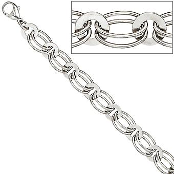Necklace chain 925 sterling silver rhodium plated 45 cm silver chain carabiner