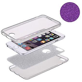 Crystal Case cover per Apple iPhone 8 plus corpo pieno caso glitter viola