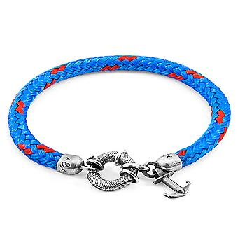 Anchor & Crew Blue Salcombe Silver and Rope Bracelet