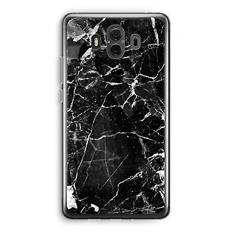 Huawei Mate 10 Transparent Case (Soft) - Black Marble 2