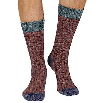 Bodiam warm men's wool boot sock in denim marl | By Scott-Nichol