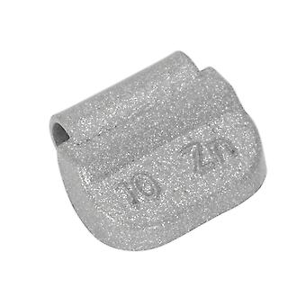 Sealey Wwsh10 Wheel Weight 10G Hammer-On Zinc For Steel Wheels Pack Of 100