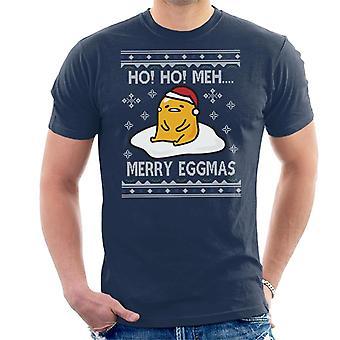 Gudetama Ho Ho Meh Christmas Knit Men's T-Shirt