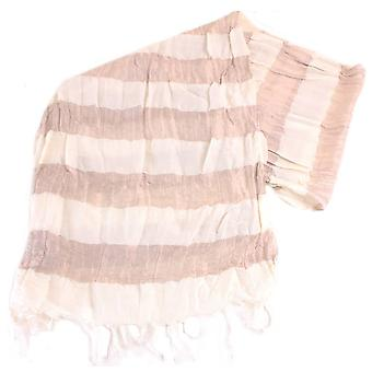 Bassin and Brown Royle Horizontal Striped Scarf - Beige/Fawn