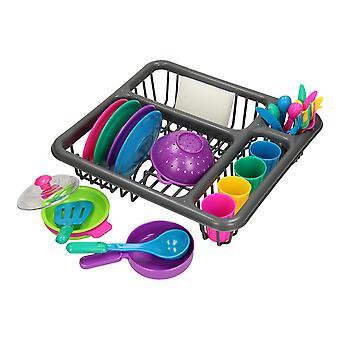 Vaisselle dans le panier à vaisselle, 26dlg