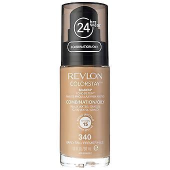 Revlon Colorstay makeup miste/grasse pelle-340 Tan presto 30 ml