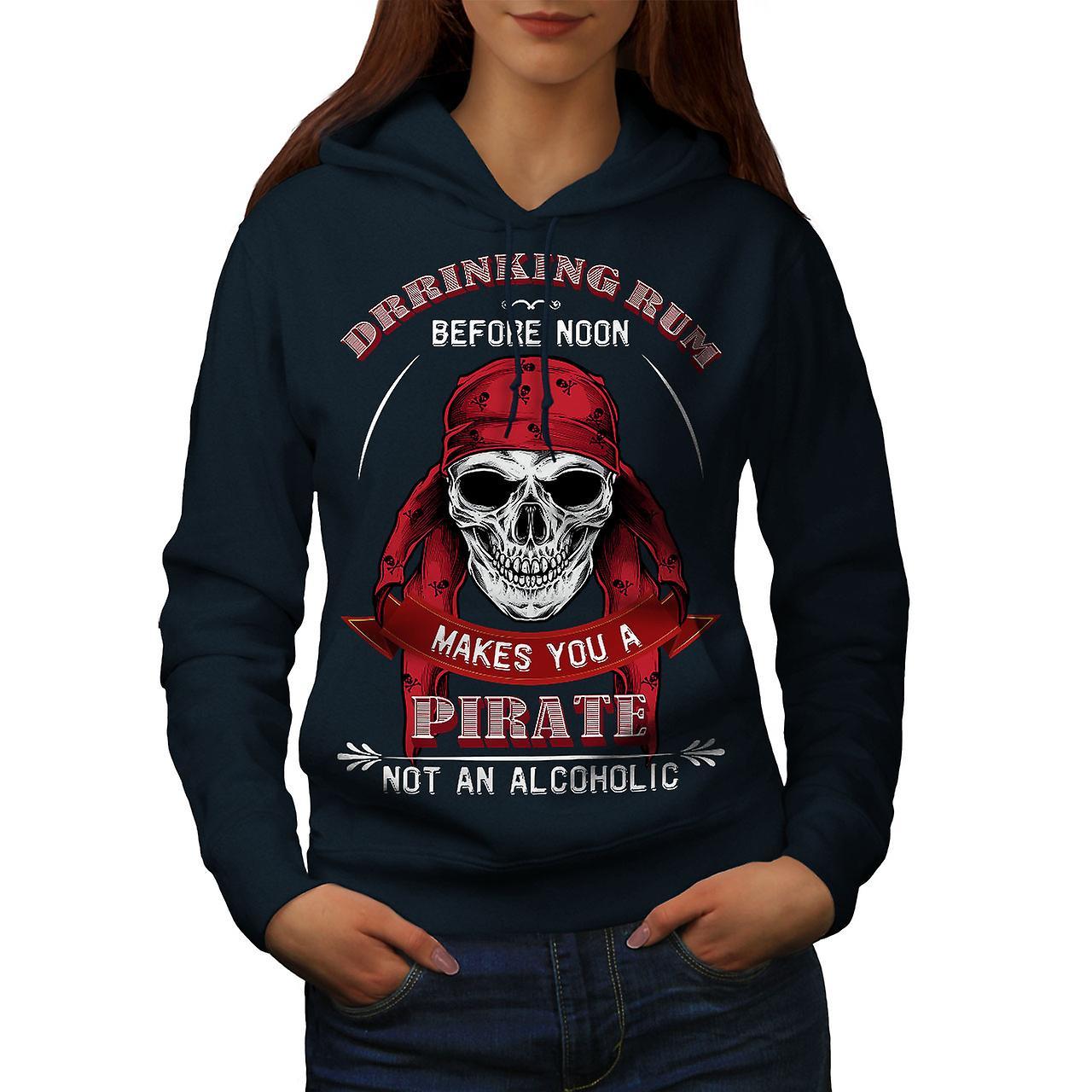 Pirate Skull femmes rhum NavyHoodie