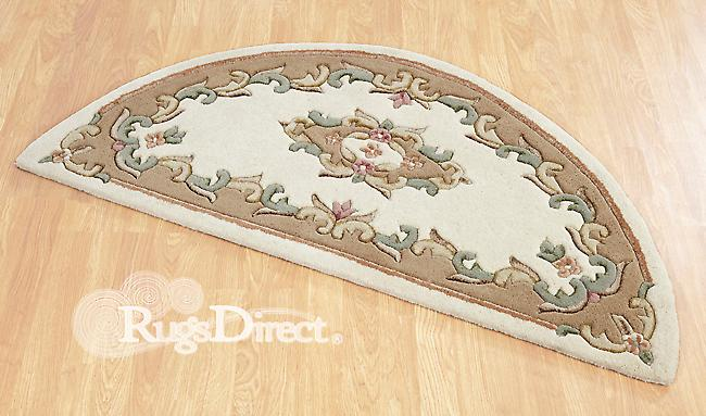 Royal Indian Cream-Beige The design is in shades of beige, rose and green on a cream background Half Moon Rugs Traditional Rugs