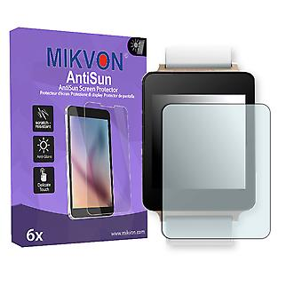 LG G Watch Screen Protector - Mikvon AntiSun (Retail Package with accessories)