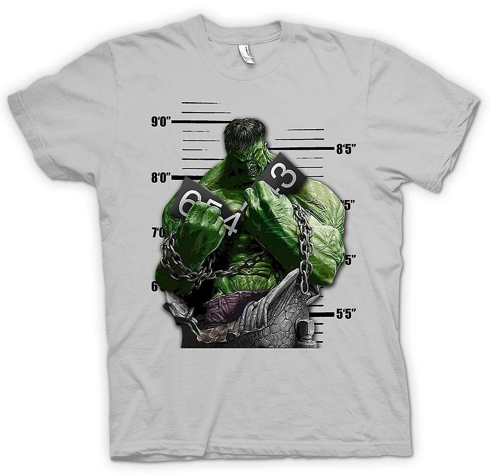 Mens t-shirt-le catene di Hulk - Cartoon-