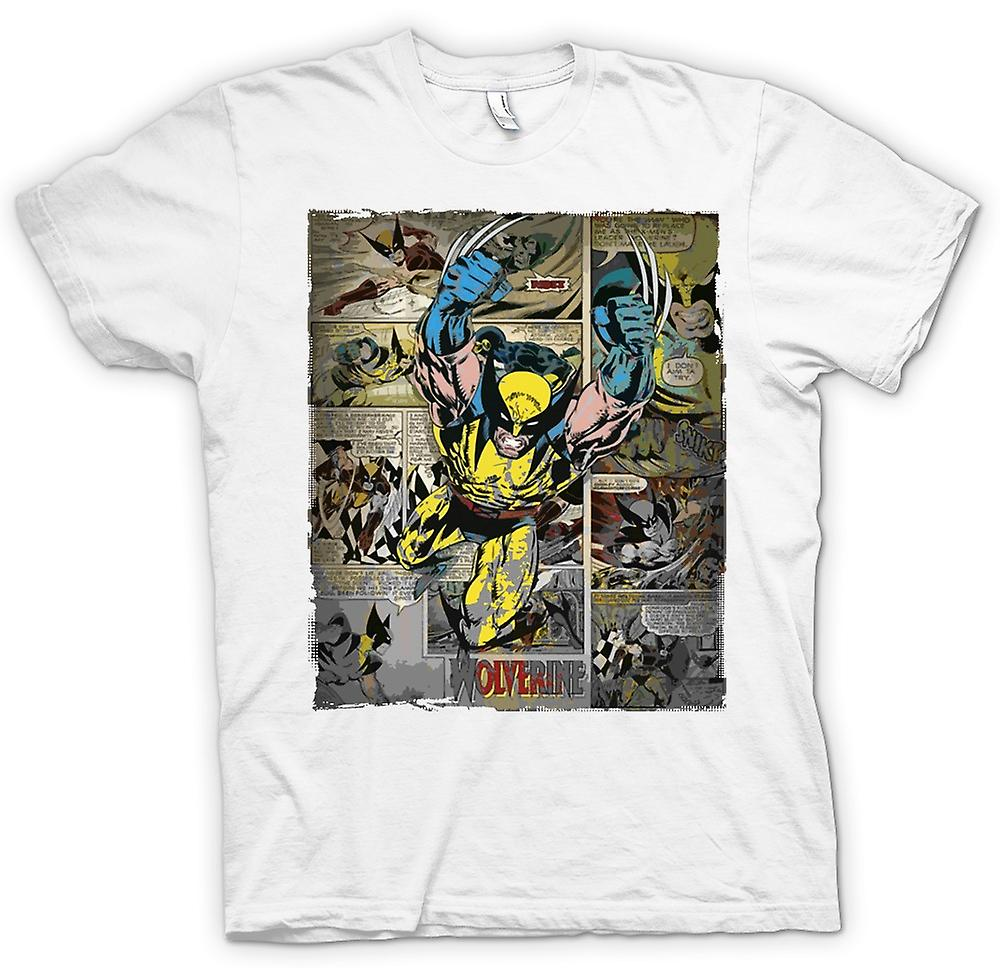 Womens T-shirt - Wolverine Comic Strip - superheld