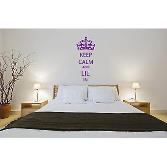 Mantieni la calma e si trovano nella camera da letto wall